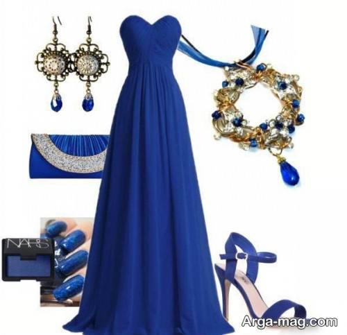 ست لباس آبی زنانه