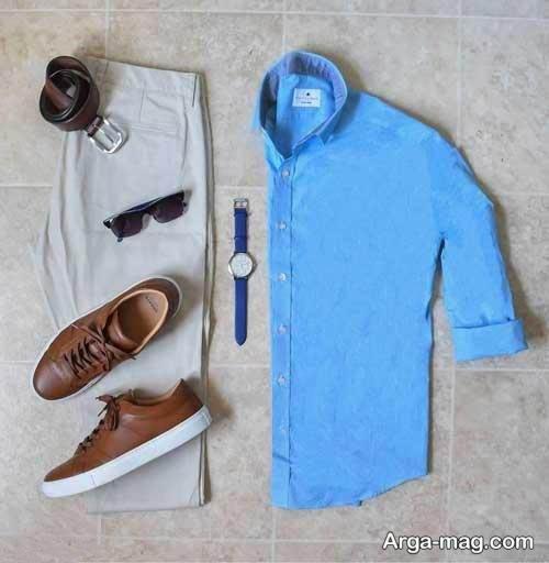ست لباس آبی برای آقایان شیک پوش