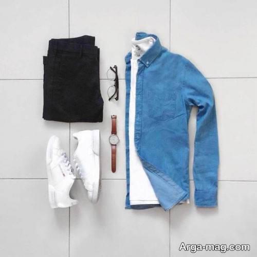 ست لباس مردانه آبی