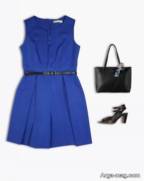 ست رنگ آبی برای دختران جوان