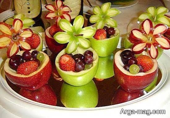 تزئین شیک میوه عید نوروز