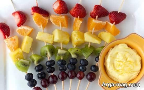 تزیین هنرمندانه میوه عید نوروز
