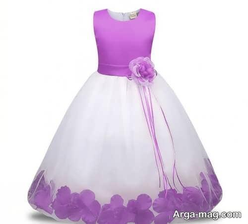 پیراهن عروس رنگی کودک