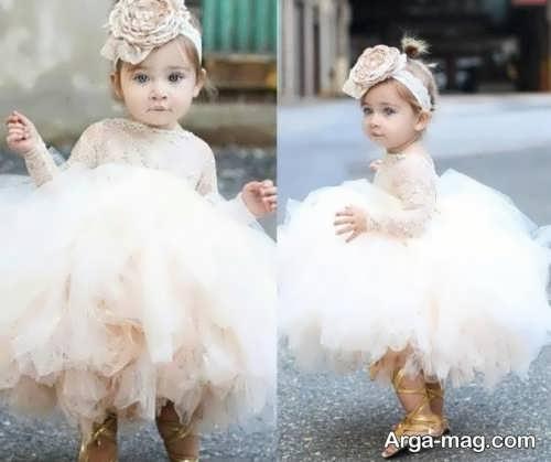 مدل لباس عروس کودک شیک