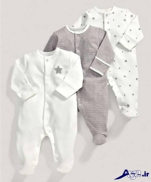 لبسا سرهمی نوزاد با طرح شیک و زیبا