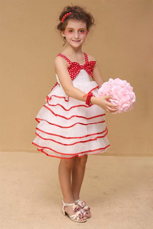6324 - مدل های زیبا و شیک پیراهن مجلسی دخترانه