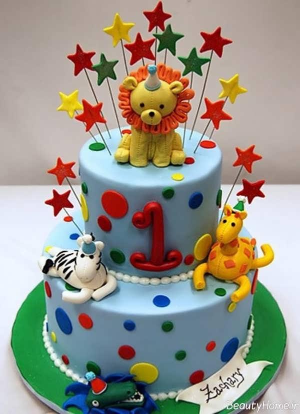تزیین خاص و زیبا کیک تولد