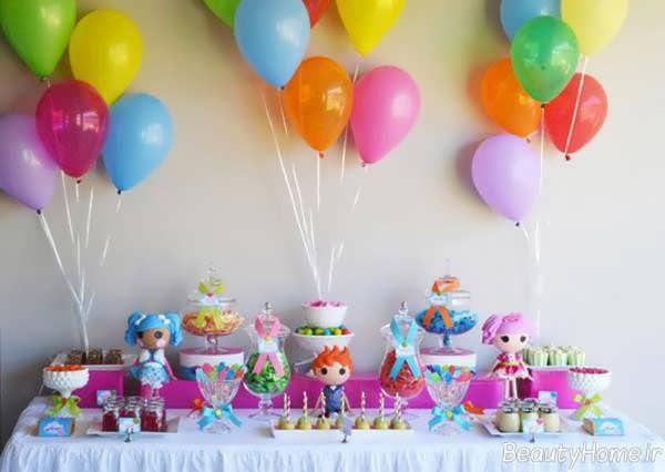 تزیین جشن تولد یک سالگی با بادکنک