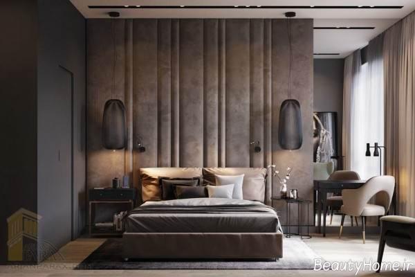 دکوراسیون زیبا و تلفیقی اتاق خواب