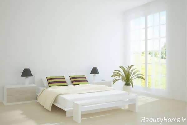 دکوراسیون داخلی اتاق خواب سفید