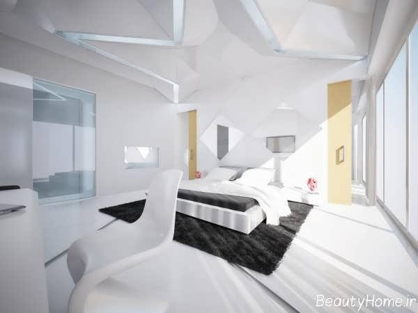 طراحی دکوراسیون داخلی منزل سفید