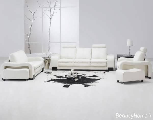 دکوراسیون زیبا و شیک منزل سفید