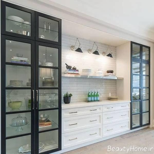 ویترین درب شیشه ای آشپزخانه