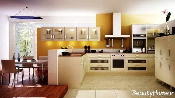 نورپردازی مدرن برای آشپزخانه بدون اپن