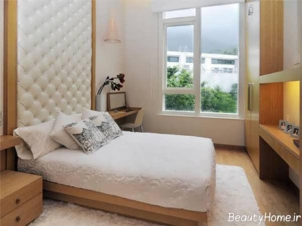 چیدمان اتقا خواب کوچک با رنگ سفید