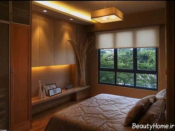 چیدمان زیبا و بی نظیر اتاق خواب کوچک