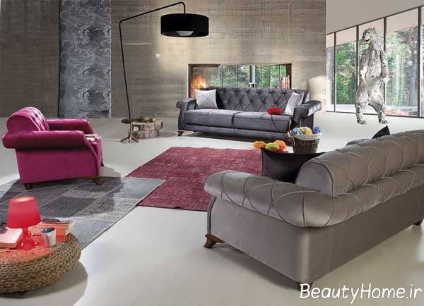 طراحی متفاوت اتاق پذیرایی با مبل چستر