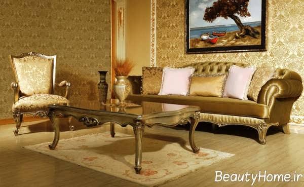 چیدمان زیبای اتاق با مبل چستر