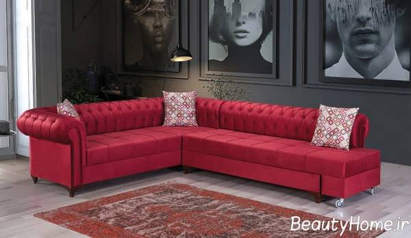 کاناپه چستر با تم قرمز