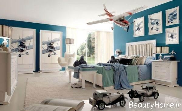 روانشناسی رنگ آبی و اثرات آن در اتاق خواب کودکان