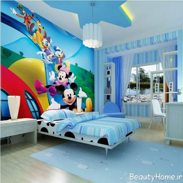 مدل های طراحی اتاق خواب کودکان با رنگ آبی